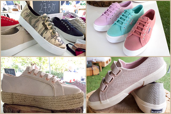 Superga sneakers on trend for spring