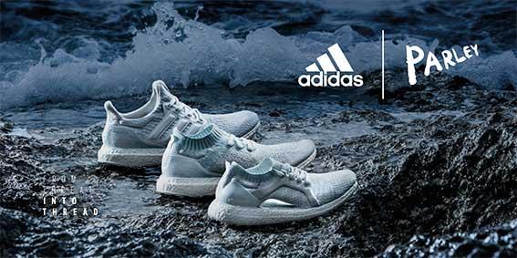 dalla minaccia di filo: adidas è trasformare in plastica